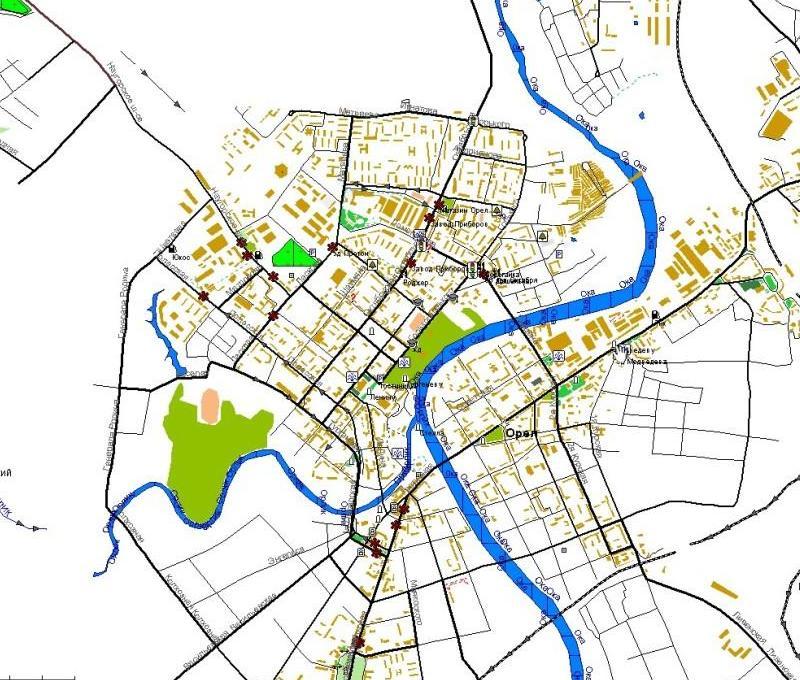 КАРТЫ ДЛЯ GPS - Карта г.Орел