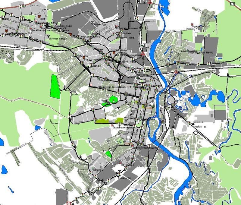 Карта Города Пенза Со Спутника В Реальном Времени